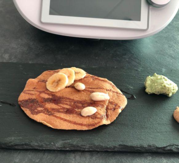 Tortitas de plátano y almendra