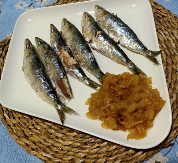 Sardinas a la sal.. Que rica fuente de omega 3!!!!